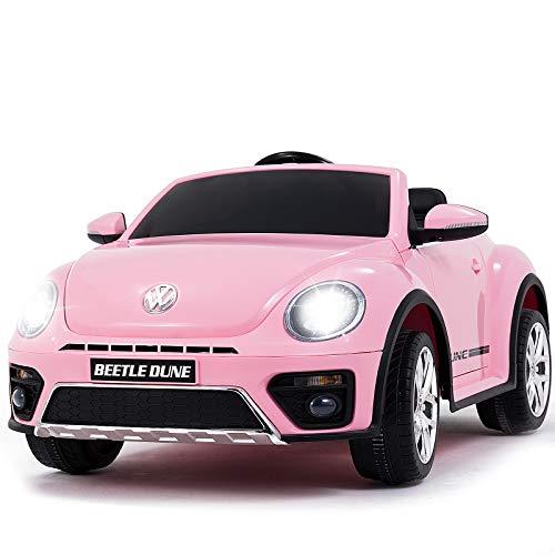 Uenjoy VW Beetle 12V Voiture pour Enfant,Voiture Electrique Enfants avec Télécommande ,Porte...