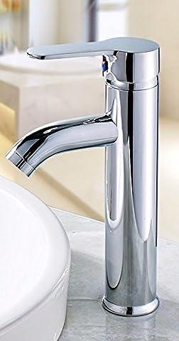 AWXJX Acier inoxydable chaud et froid cuivre cliquez sur la poignée un seul trou d'un lavabo dans le réservoir d'eau et le
