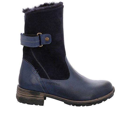Josef Seibel Damen Winterstiefel Sandra 76,Frauen Winter-Boots,Fellboots,Fellstiefel,gefüttert,Warm,Ocean,EU 38