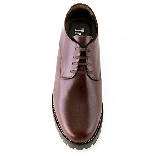 Masaltos Chaussures Réhaussantes Pour Homme avec Semelle Augmentant la Taille JusquÀ 7cm. Fabriquées en Peau. Modèle Tormo Marron