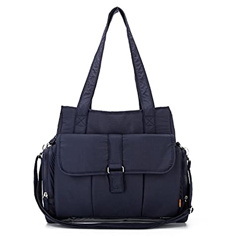 YONOVO Baby Diaper Bag Tote Backpack with Changing Pad and Insulated Compartment (Deep Blue)