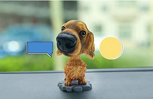 kgftdk Auto Ornamente Kopfschütteln Hund Puppe Harz Automobile Interieur Armaturenbrett Dekoration Nette Wackelhund Spielzeug Dekor Einrichtungsgegenstände