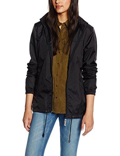 B&C Damen Regenmantel Ladies Sirocco Jacket, Schwarz (Black), 38 (Herstellergröße: Medium)