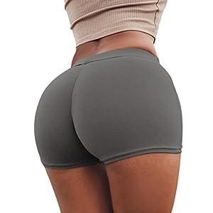 squarex Sommer-Shorts für Damen, für Sport, Fitness, Workout, Taillenbund, Skinny Yoga, Kurze Hose