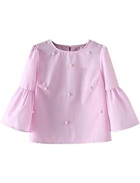 OverDose mujer blusa camiseta funda casual rebordear blusa camiseta tops