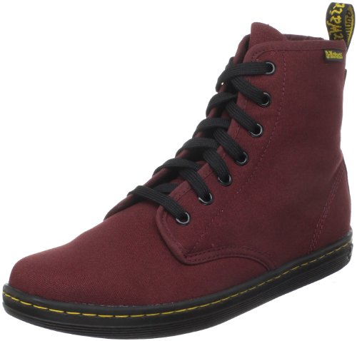 Dr. Martens Frauen Shoreditch Stiefel, EUR: 41 EUR, Cherry Red Canvas