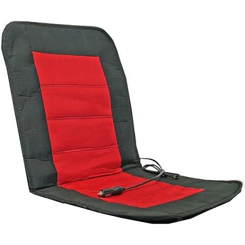 Alpin 74301 - Coprisedile riscaldante Sport, colore: Nero/Rosso