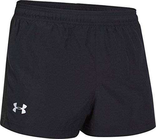 Under Armour, Pantaloni corti da running Uomo, Nero (Blk/Ref), S