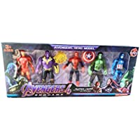 Barodian's™ Super-Hero Figurine Adjustable Body Toy Set of 6 (Multicolor)