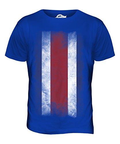CandyMix Costa Rica Verblichen Flagge Herren T Shirt Königsblau