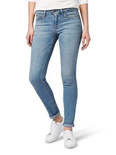 TOM TAILOR für Frauen Jeanshosen Alexa Skinny Ankle Jeans Light Stone wash Denim, 31/30