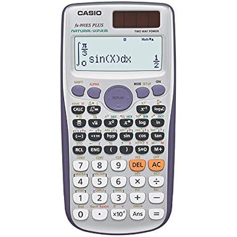 Casio FX-991ES PLUS - Calculadora científica (417 funciones, 15 + 10 + 2 dígitos, pantalla Natural), color