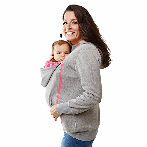 mayabee Babywearing Hoodie 3in1 Maternity Jumper& Front Carrying Jacket From Soft Fleece
