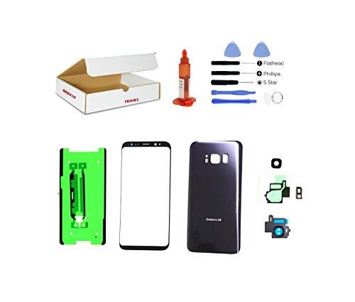 (md0410) Ersatz-Reparaturset, kompatibel mit Galaxy S8 G950, Frontglaslinse, Orchideengrau/Grau, Rückseite (LCD-Display und Touchscreen-Digitizer Nicht im Lieferumfang enthalten) (Handy Note 2 At&t)