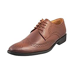 Mochi Men Tan Leather Brogue ( Size Euro43/Uk9 )