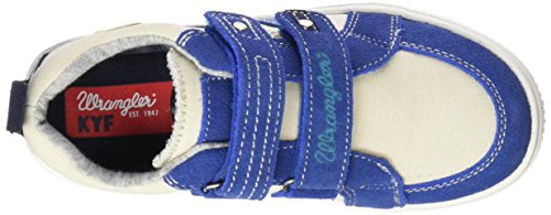 Wrangler Walking, Baskets Basses garçon Bleu - Blau (345 NAVY/WHITE)