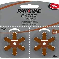 120 piles auditives Rayovac 312 Extra advanced / pile auditive PR41 / piles pour appareils auditifs / 312AE,A312,DA312,P312,PR312H