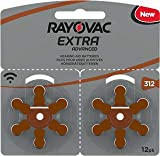 120 piles auditives Rayovac 312 Extra advanced / pile auditive PR41 / piles pour appareils auditifs / 312AE,A312,DA312,P312,PR312H