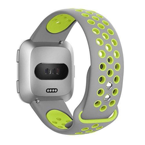 CICIYONER Sport Strap für Fitbit Versa Doppelte Farbe Silica Gel - Invicta Bands Silikon Watch