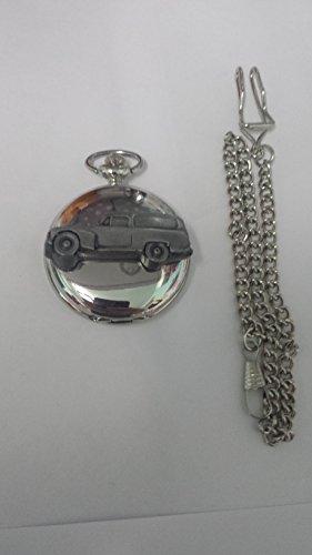 Volvo 445Duett Van ref284Zinn Effekt Emblem Silber Poliert Fall Herren Geschenk Quarz Taschenuhr hergestellt in Sheffield