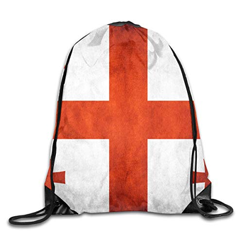 Georgia String (mchmcgm Novel Drawstring Backpack String Bags Georgia Flag Fitness100% Polyesterstring Sack)