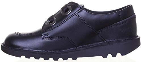 Kickers Kick Lo Largity Junior Chaussures en cuir mat Noir - Noir/gris