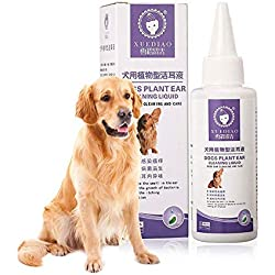 KOBWA Ohrenpflege für Hunde 70ML Natural Plant Formuliert Pet Ohrenreiniger, Entfernt Wachs und Trümmer, Reduziert Geruch Hilfen Verhindern Milben und Infektionen