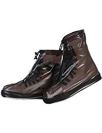 zhxinashu Zapatos Impermeables de la Lluvia Cubierta Cubrezapatos de Nieve Protección Protectora Antideslizante Botas de Reutilizables Hombres Mujeres Niños