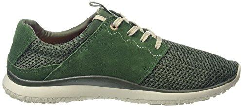 Merrell Getaway Lace, Baskets Basses Homme Vert (Dark Green/Light Grey Mesh)