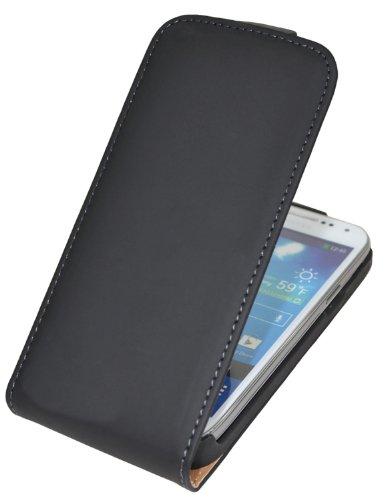 Samsung Galaxy Core LTE (SM-G386F) / Premium Flip-Style Tasche Handytasche Etui Hülle Schutzhülle (Spezielle Anfertigung) in schwarz