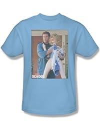 Old School - Herren Frank und Puppe T-Shirt in hellblau