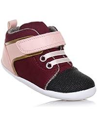 Bobux 460605 - Zapatos Para Gatear de cuero bebé - unisex, color rojo, talla S