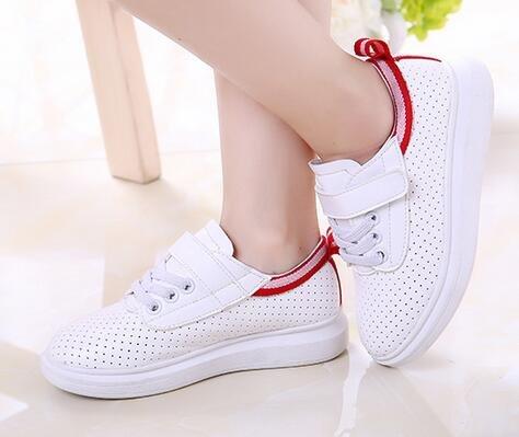 Ohmais Enfants Fille chaussures de sport Casual shoes Rouge