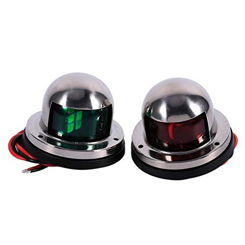 Keenso 1 Paar 12V LED Navigationslichter Rot Grün Kit für Boot