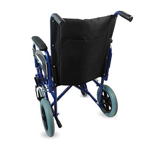 41kOzENlH L - Mobiclinic - Silla de ruedas de tránsito, Plegable, Reposabrazos y reposapiés extraíbles , Negro