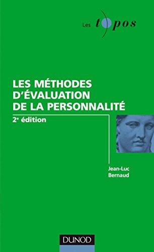 Les méthodes d'évaluation de la personnalité - 2ème édition (Les Topos)