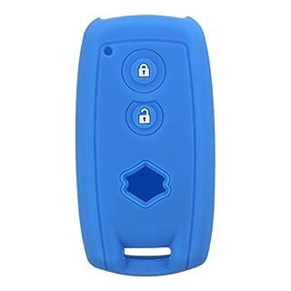 GOZAR Autoschlüssel Koffer Abdeckung Silikonschlüssel Abdeckung Fob Remote Case Für Suzuki Grand Vitara Sx4 Swift Xl-7-Dunkelblau