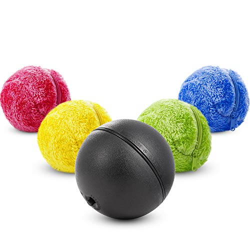 Magic Roller Ball Spielzeug, Hunde Katze Automatische Roller Spielzeug Ball mit Rolling Ball und Bunte Abdeckung Mini Roboter Reiniger für Reinigung Hause und Haustier Interaktive Spielzeug (1 Set)