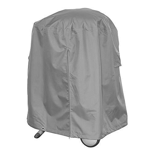 Premium Schutzhülle für Rundgrill/Kugelgrill/Standgrill aus Polyester Oxford 600D - lichtgrau - von \'mehr Garten\' - Größe L (Durchmesser: 93 cm)