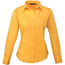 f88e0215e Premier Women  s Formal Poplin Long Sleeve Camiseta