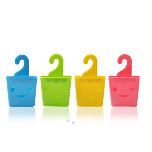 BENHAI Mode Küche Zubehör Lächeln Waschbecken Ablaufkorb Ablagekorb Korb Tank Hängenden Korb Bad Regal Lagerung Lächeln Gesicht Form Hängen Kreative (jaune) (Hängende Lagerung-körbe)