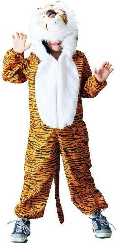 Foxxeo Tiger Kostüm für Kinder Tiekostüm Kinderkostüm Jungen Mädchen Größe (Tiger Kostüm Jungen)
