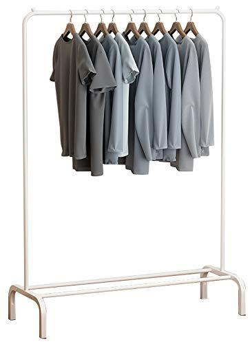Perchero ease Home para ropa, con una sola barra con estante para almacenamiento de cajas, zapatos o botas en la parte inferior, minimalista, metálico, moderno