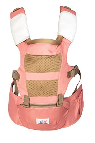 Emma & Noah Babytrage, ergonomisch für Kind und Eltern, 3-in-1 Trage, empfohlen von 6-36 Monate, zugelassen für 3,6-15 kg, Rosa/Pink, Kindertrage, Baby-Tragegurt, Baby Carrier, Baby-Tragetasche