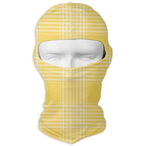 Wdskbg Ski Mask Yellow Buffalo Plaid Sun UV Protection Dust Protection Wind-Resistant Face Mask for Running Cycling Fishing New5 - Buffalo Plaid Fleece