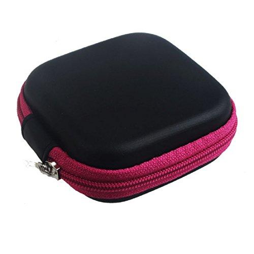 luss-Speicher-Beutel-tragender Fall für haltes halten Kopfhörer-Sd-Karten-Bereich (Hot Pink) (Benutzerdefinierte Handy Fällen)