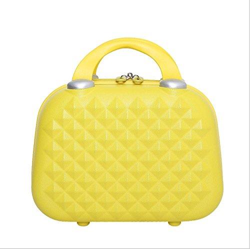 Xiuxiandianju bagagli di 8cm 14inchsizi ABS materiale trousse (diversi SuitcaseColour) , yellow , 14 inch Yellow