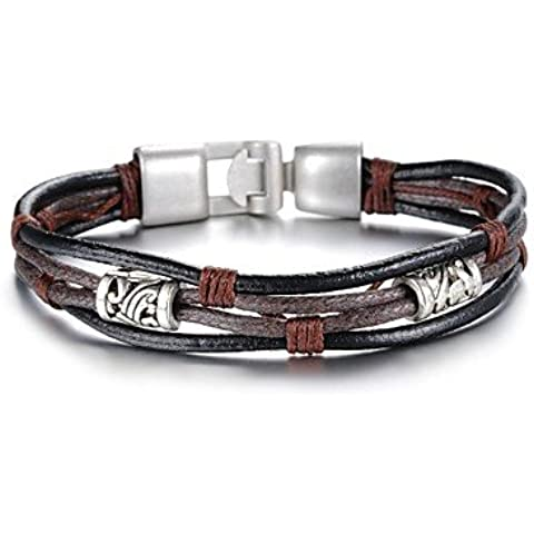 la moda de cuero beatles estilo gótico brazalete de acero inoxidable (1 pc)