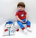 iCradle Bambole in Tessuto Reborn / 22 Pollici Reborn Baby Body + Morbido Silicone Vinile Realistico Bebe Reborn Boy Dolls for Child Play (18Inch)