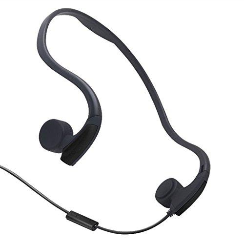 GZCRDZ Casque audio à conduction osseuse avec micro stéréo, Écouteurs sport avec micro avec réduction du bruit